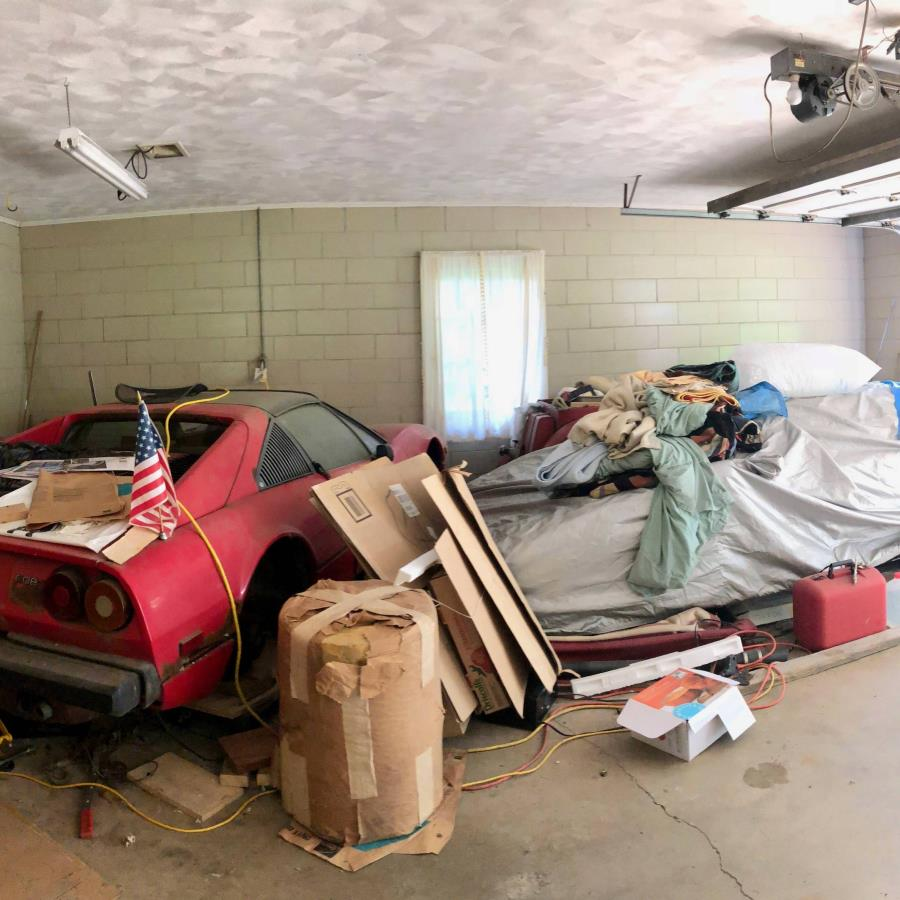 The supercars left in a dusty garage for 20 years